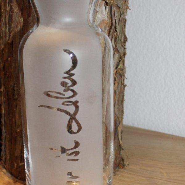 Karaffe Wasser ist Leben 1000ml (Kopie)